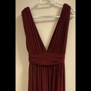 Maroon formal dress